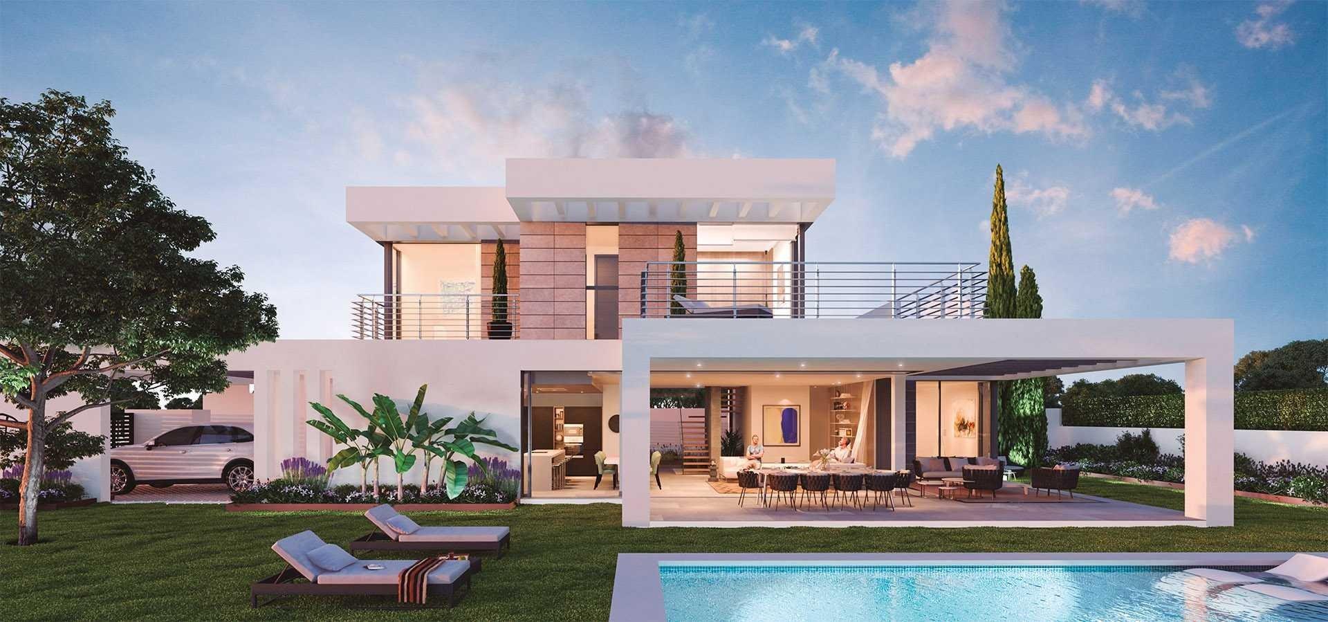 New modern villas in los flamingos benahavis for Villa moderne