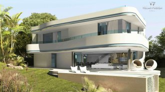 Villa in hi-tech style on the New Golden Mile
