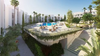 Contemporary-new-apartment-complex,-New-Golden-Mile